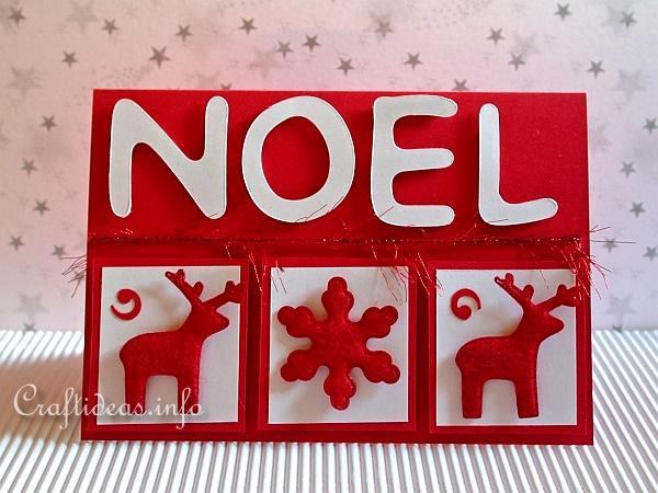 Craft Handmade Christmas Cards Noel Christmas Card