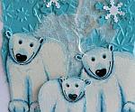 Christmas Card - Polar Bears Greeting Card for the Holidays