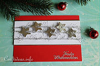 Christmas Card - Red with Silver Stars Greeting Card for the Holidays_0035