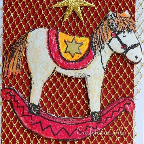 Christmas Card - Rocking Horse Greeting Card for the Holidays 2