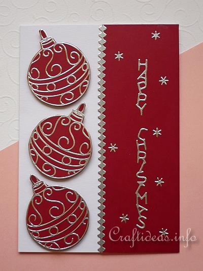 Christmas Card with Peel-Off Sticker Ornaments