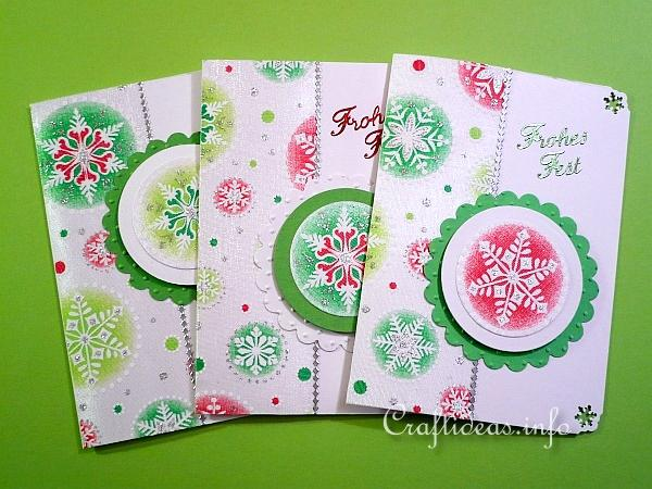 Christmas Cards with Printed Organza Motifs
