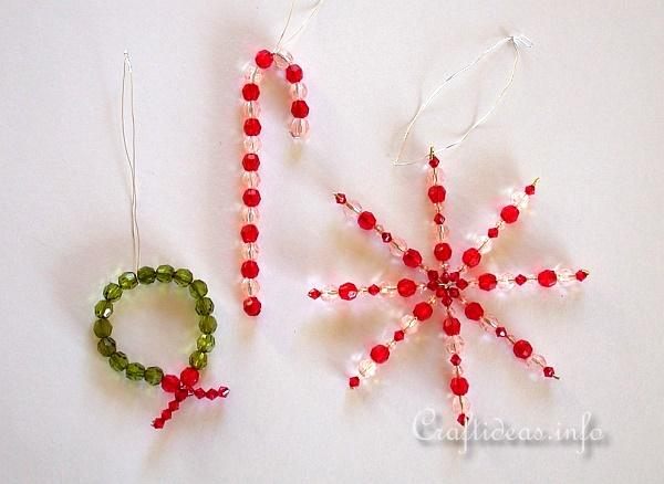 Crafts for christmas beaded ornaments candy cane star for Christmas star craft ideas