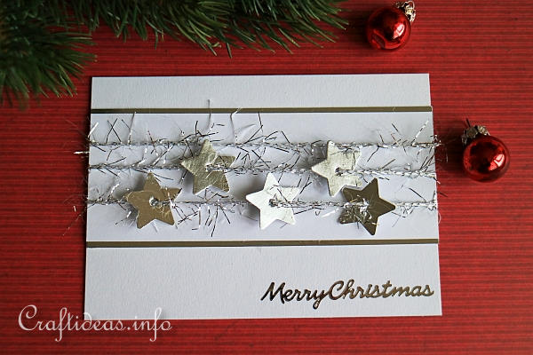 Free Christmas Crafts Silver Stars Christmas Card