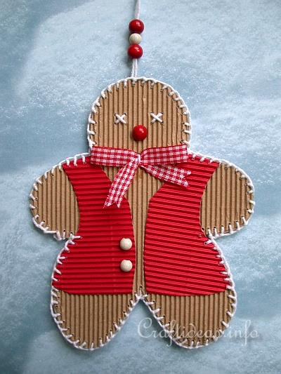 Christmas Craft - Corrugated Cardboard Gingerbread Man