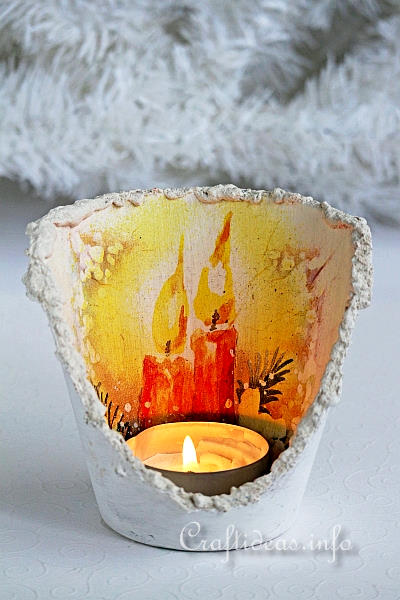 Christmas Craft - Flower Pot Tea Light Holder