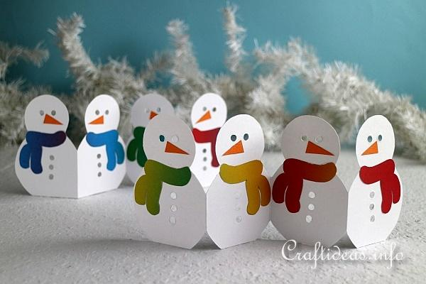 Christmas Craft - Paper Snowmand Garland