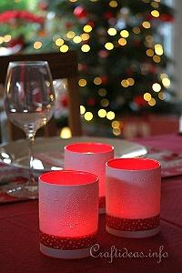 Christmas Craft - Pricked Paper Luminaries