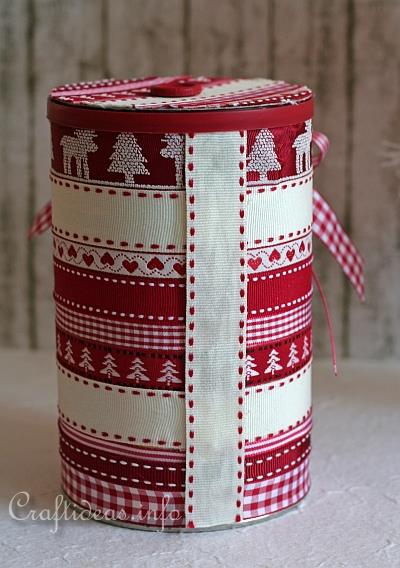 Christmas Craft - Recycling - Embellished Can With Lid 3