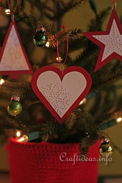 Christmas Craft - Red Paper Ornaments 2