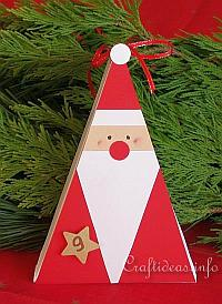 Christmas Craft - Santa Claus Triangle Gift Box