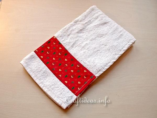 Christmas Sewing Craft Decorative Guest Towels For The Holidays