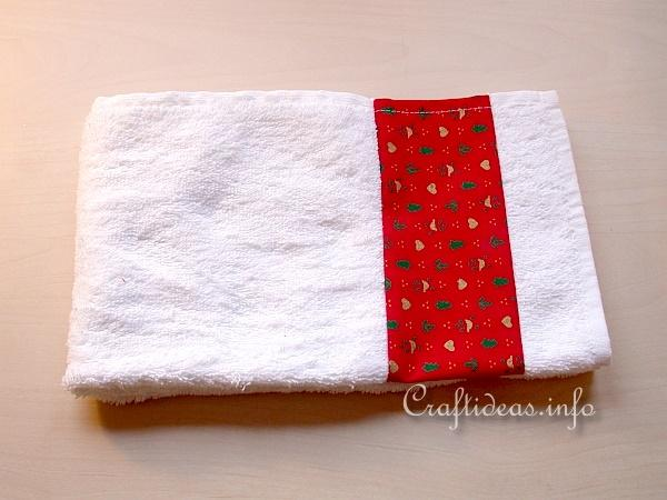 Christmas Craft - Sew a Designer Hand Towel 2