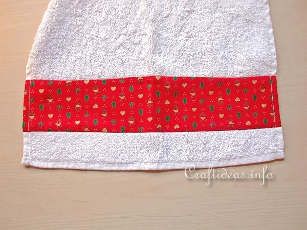 Christmas Craft - Sew a Designer Hand Towel Detail