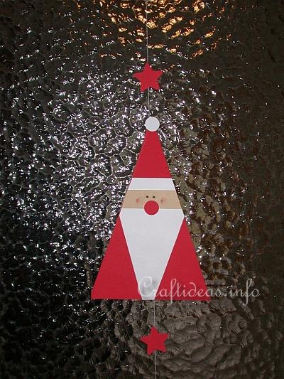 Christmas Craft - Triangle Santa Decoration