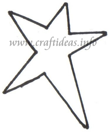 Christmas Craft Ideas - Country Star Template