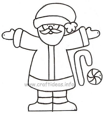 Christmas Craft Pattern - Santa Claus 500