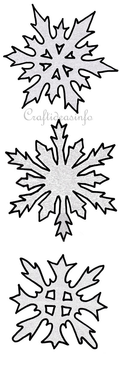 Christmas Craft Patterns - Snowflake Set 2