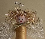 Christmas Craft for Kids - Golden Cork Angel