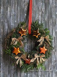 Christmas Door Wreath with Copper Colored Decoration
