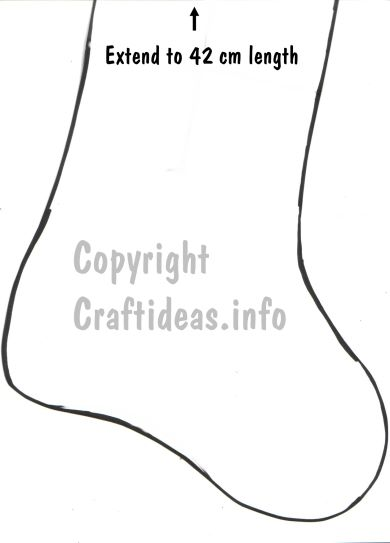 photograph regarding Printable Stocking Pattern identified as Totally free Sewing Behavior/ Template for a Xmas Stocking