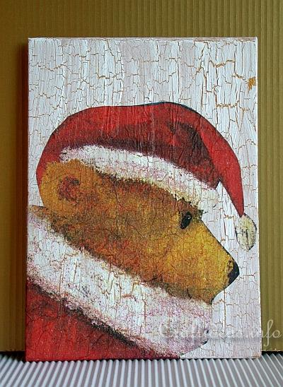 Christmas Faux Painting with Santa Teddy Bear Motif