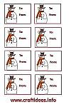 Christmas Gift Tags - Red Snowman Set