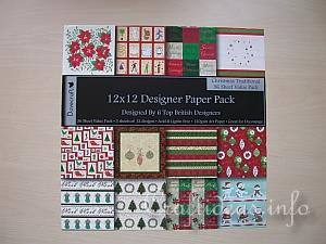 Christmas Memory Game - Scrapbook Paper Pack