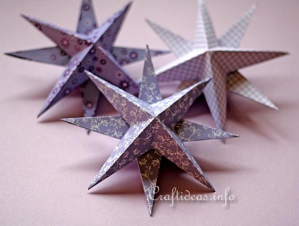 Christmas Paper Craft - 3-D Stars 1