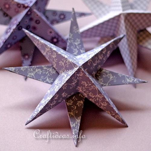 Christmas Paper Craft - 3-D Stars 2