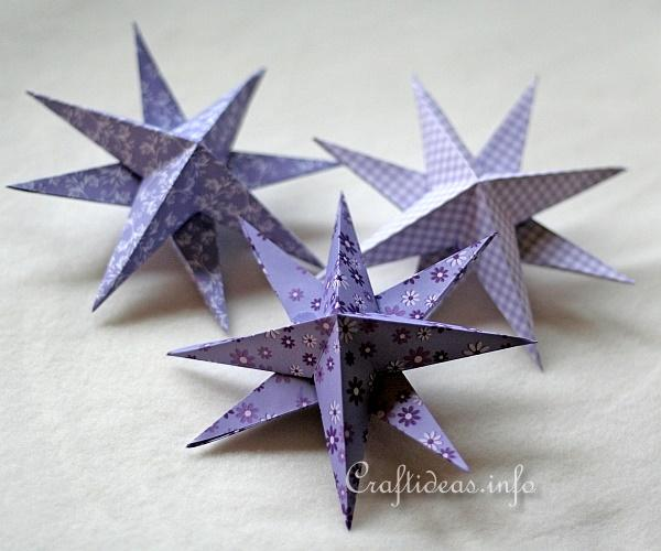 Christmas Paper Craft - 3-D Stars 3