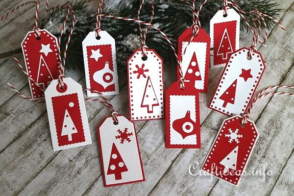 Christmas Paper Craft Scandinavian Inspired Christmas Gift Tags