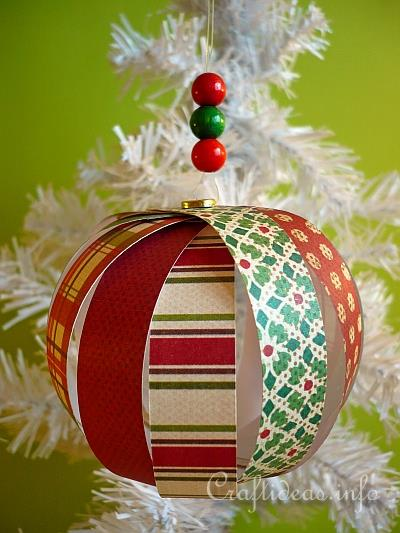 Beautiful Christmas Paper Craft   Easy Delicate Paper Christmas Ornament Pictures