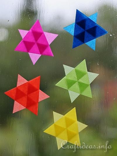 Christmas paper craft   easy to make mini transparent stars