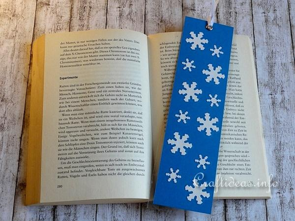 christmas paper craft easy to make snowflake bookmark