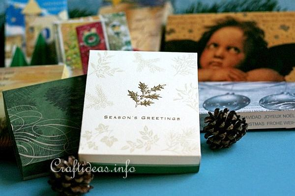 Craft Idea Learn How To Make A Box Out Of Used Christmas Cards
