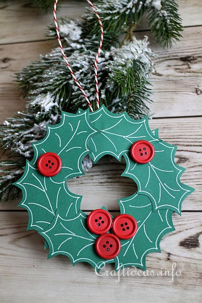Christmas Paper Craft   Paper Wreath Ornament