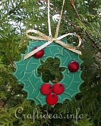 Christmas Paper Craft - Paper Wreath Ornament