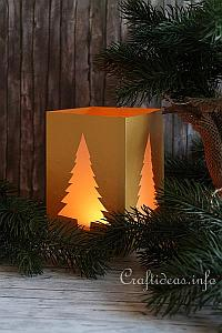 Christmas Paper Craft - Table Lantern