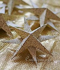 Christmas Paper Craft - Three Dimensional Paper Star