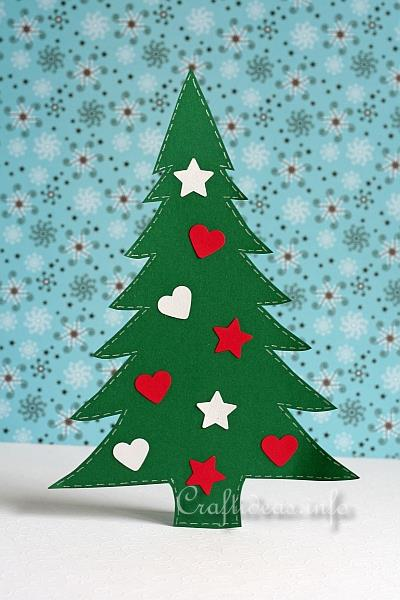 Paper Christmas Tree.Christmas Crafts For Kids Paper Christmas Tree Decoration