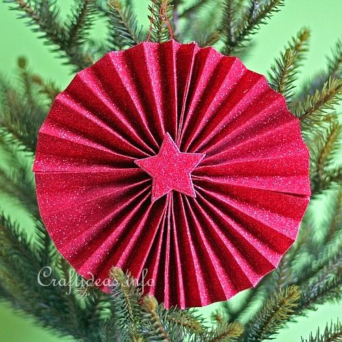 Free Christmas Craft For Kids Easy Paper Ornament