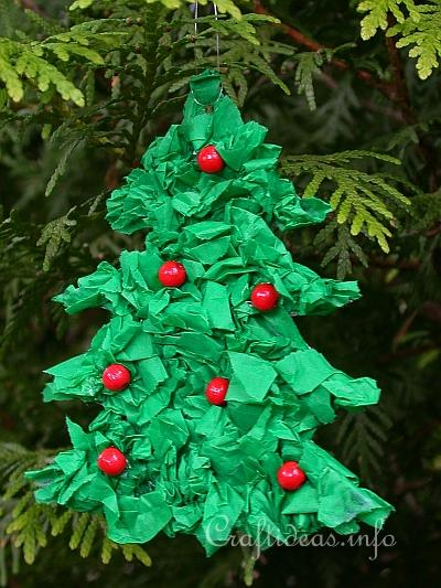 Christmas Craft for Kids  Paper Christmas Tree Ornament