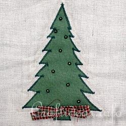 Christmas Quilt - Wall Hanging- Detail of Christmas Tree