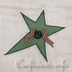 Christmas Quilt - Wall Hanging - Detail of Star