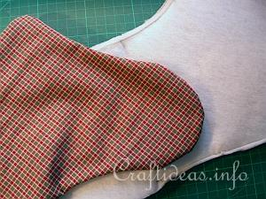 Christmas Stocking Tutorial 5