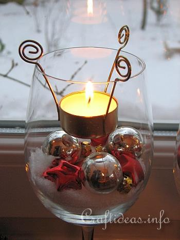 christmas table decoration tealight candle glasses detail - How To Decorate Votive Candle Holders For Christmas