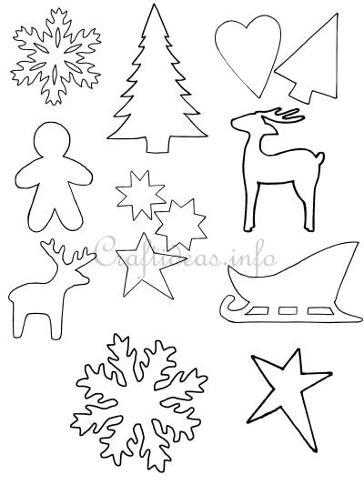 Crafts For Christmas Christmas Templates Shapes And