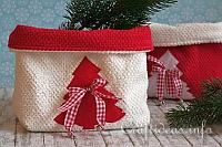 Christmas Terrycloth Baskets 200
