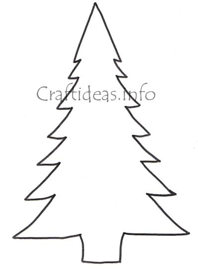 Christmas Tree Template Cut Out Pattern